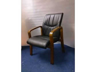 Leather Executive Visitor Chair GRA-CHA-C399 MEDIUM OAK