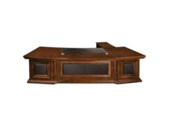 Stylish Solid wood veneer Curved  Executive Office Furniture Desk EMP-DSK800-2800MM