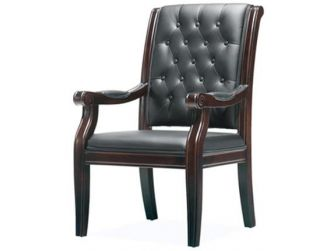Leather Visitor Chair In Green Or Black GRA-F55C-1