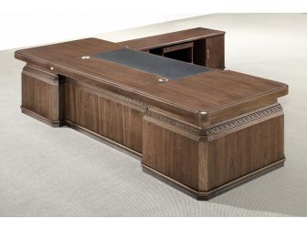 3.2m Luxury Executive Office Desk GRA-K1L321