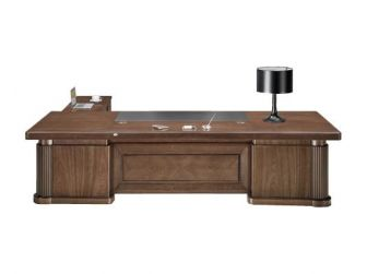 Large stylish Executive Office Desk Real Wood Veneer HER-DSK-K3Y281