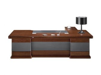 Luxury Executive Desk Leather Detailing NAX-DSK-U9C241-2400/2800mm