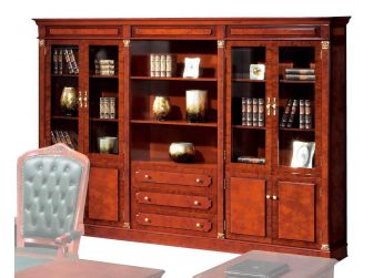 Luxury Solid Wood Executive Bookcase COL-10803A