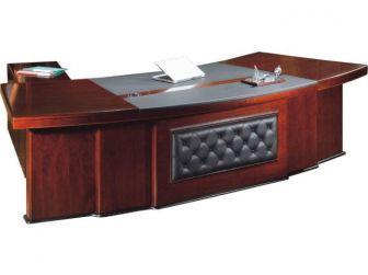 2.6m Executive Office Desk Leather Trim DES-3211-S