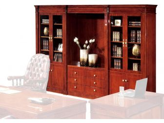 Solid Wood Executive Bookcase FER-10810A