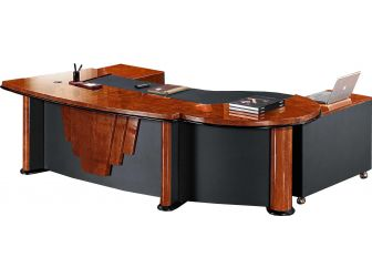Executive Desk With Styled Panels STR-16832