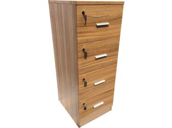 Senato DES-4D-FIL-LO Light Oak Filing Cabinet