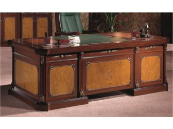 Burr Ingrained Walnut Executive Desk - T1221
