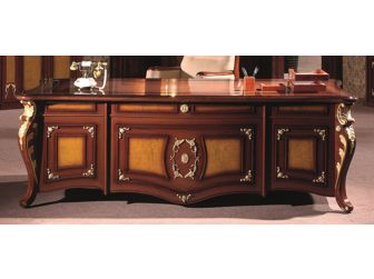 Unique  Regency Walnut Executive Office Desk - T1228-2400mm