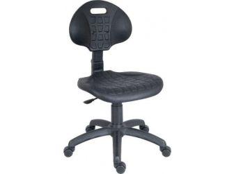 Black Polyurethane Chair LABOURER-PRO