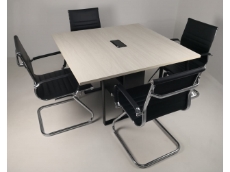 Executive Modular Meeting Room Boardroom Table White Ash