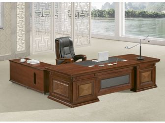 Large stylish Executive Office Desk Real Walnut Veneer HER-DSK-U3J241