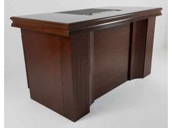 GRA-UBA141-1400mm - Executive Home Office Desk In Walnut Veneer