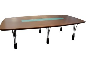 Luxury 3m Light Walnut Executive Boardroom Meeting Room Table HT30